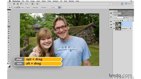 Removing graphics from clothing: Photoshop CS5: Portrait Retouching