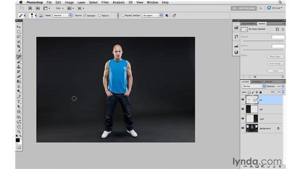 Extending a studio backdrop: Photoshop CS5: Portrait Retouching