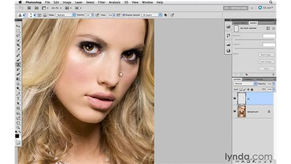 Reducing hot spots: Photoshop CS5: Portrait Retouching