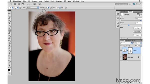 Correcting tone with curves and masking: Photoshop CS5: Portrait Retouching