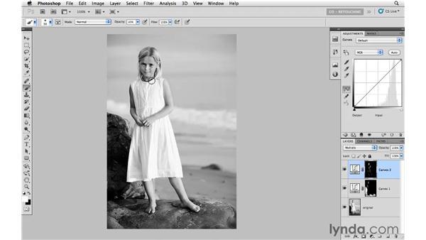 Correcting tone with blending modes and masking: Photoshop CS5: Portrait Retouching
