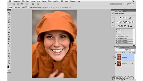 Using Shadow/Highlights to brighten shadows: Photoshop CS5: Portrait Retouching