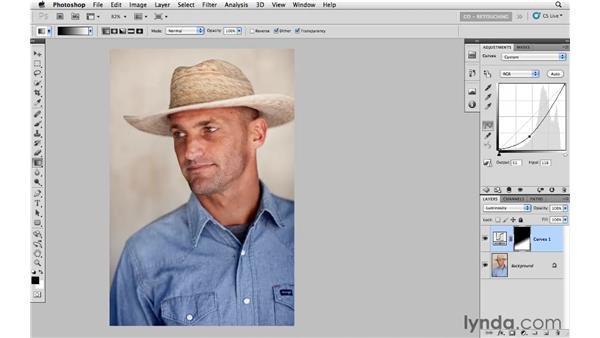 Redirecting light with curves and masking: Photoshop CS5: Portrait Retouching