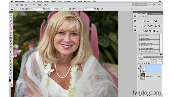 Reducing wrinkles with the Clone Stamp tool: Photoshop CS5: Portrait Retouching
