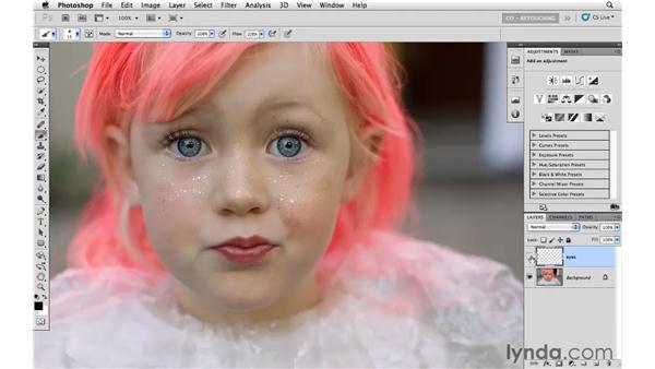Adding sparkle to eyes: Photoshop CS5: Portrait Retouching