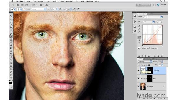 Enhancing eyes with adjustment layers and blending: Photoshop CS5: Portrait Retouching
