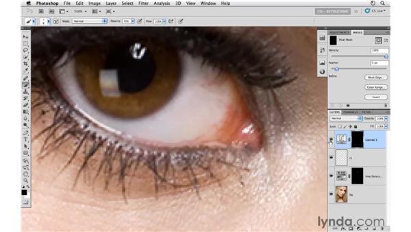 Whitening eyes: Photoshop CS5: Portrait Retouching