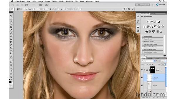Modifying pupils and eye edges: Photoshop CS5: Portrait Retouching