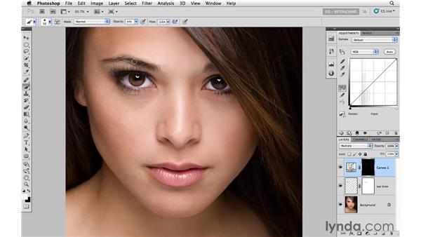 Darkening an eyebrow: Photoshop CS5: Portrait Retouching
