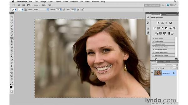 Enhancing lip color and tone: Photoshop CS5: Portrait Retouching