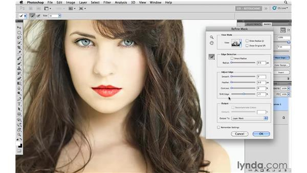 Using curves and blending modes to improve lips: Photoshop CS5: Portrait Retouching