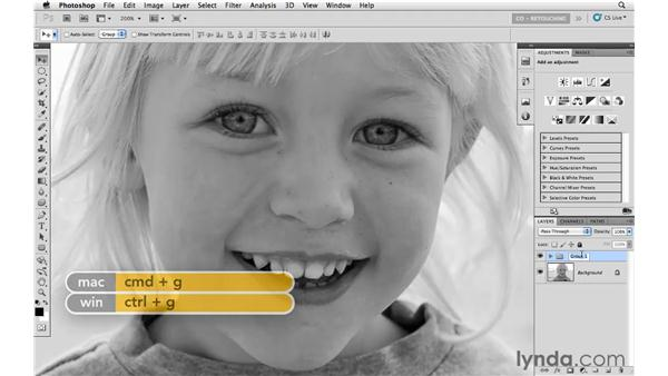 Removing a gap between teeth: Photoshop CS5: Portrait Retouching