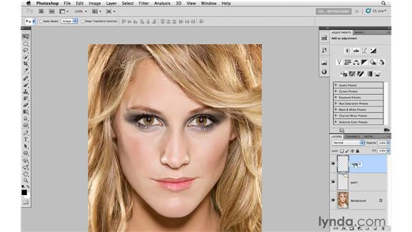 Patching a gap in hair: Photoshop CS5: Portrait Retouching