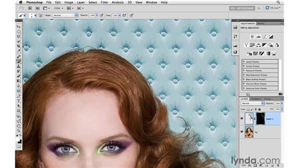 Removing flyaway hairs: Photoshop CS5: Portrait Retouching