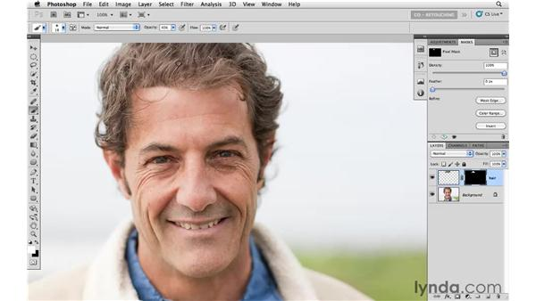 Adding thickness to thinning hair: Photoshop CS5: Portrait Retouching