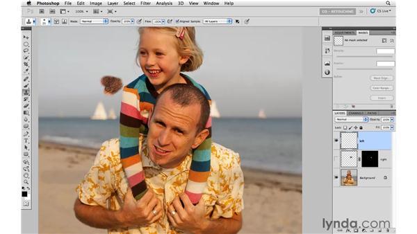 Filling in a receding hairline: Photoshop CS5: Portrait Retouching