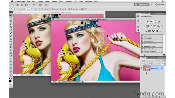 Increasing color saturation and variety of makeup: Photoshop CS5: Portrait Retouching