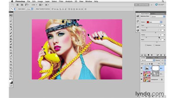 Using Selective Color to create vibrant color: Photoshop CS5: Portrait Retouching