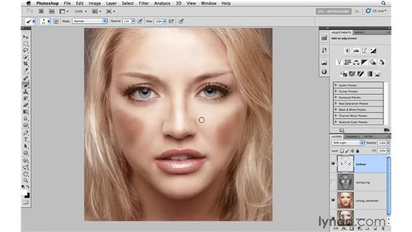 Creating dimensions with contours: Photoshop CS5: Portrait Retouching