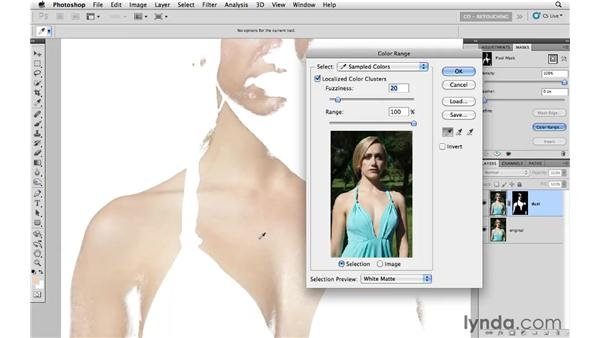Reducing skin variations and freckles: Photoshop CS5: Portrait Retouching