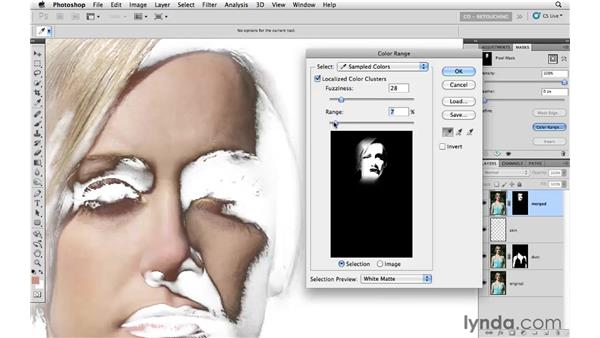 Improving the skin on the face: Photoshop CS5: Portrait Retouching