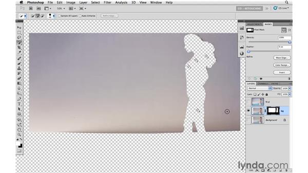 Reducing blemishes in the background: Photoshop CS5: Portrait Retouching