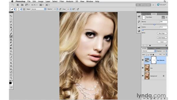 Creating a soft, glamorous look: Photoshop CS5: Portrait Retouching