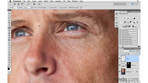 Example 3: Basic cleanup: Photoshop CS5: Portrait Retouching