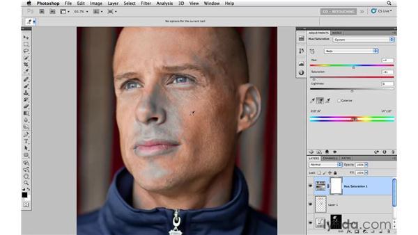 Example 3: Reducing color variation: Photoshop CS5: Portrait Retouching