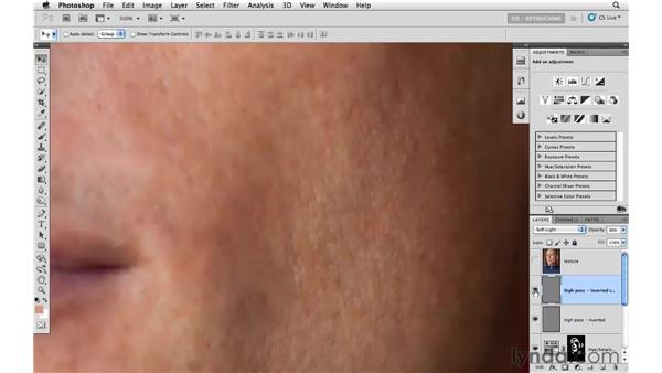 Example 3: Smoothing skin with the High Pass filter: Photoshop CS5: Portrait Retouching