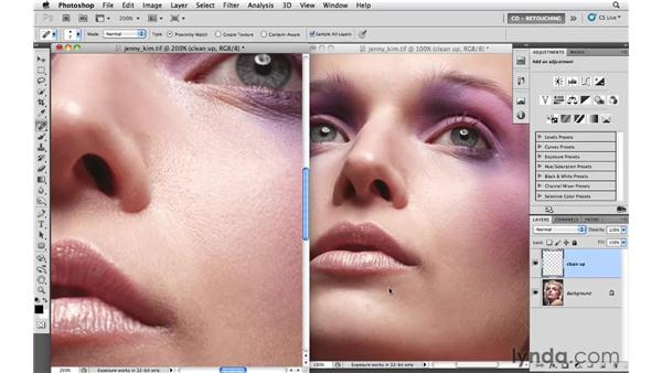 Example 4: Viewing an image in multiple windows: Photoshop CS5: Portrait Retouching