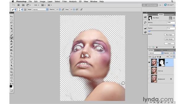 Example 4: Final fashion smoothing: Photoshop CS5: Portrait Retouching