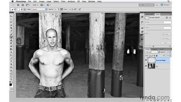 Adding dimension with painting and Soft Light: Photoshop CS5: Portrait Retouching