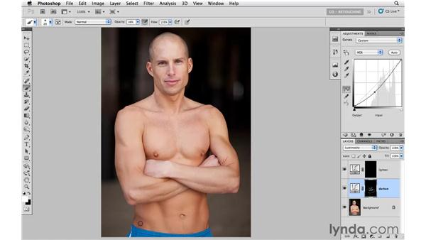 Adding dimension with curves and masking: Photoshop CS5: Portrait Retouching