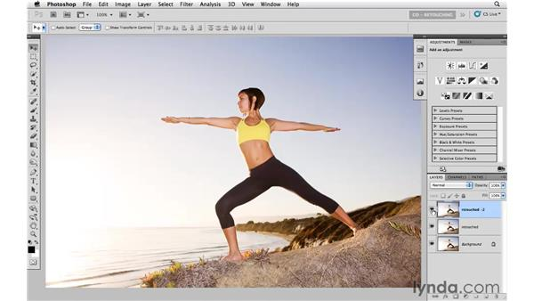Thinning with Puppet Warp: Photoshop CS5: Portrait Retouching