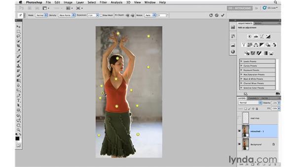 Using Puppet Warp to change shape: Photoshop CS5: Portrait Retouching