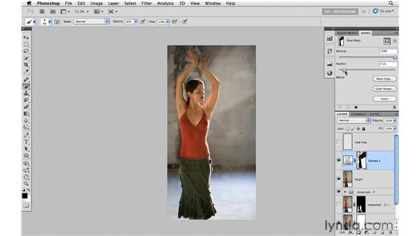 Modifying color and light: Photoshop CS5: Portrait Retouching