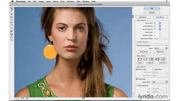 Changing an expression with Liquify: Photoshop CS5: Portrait Retouching