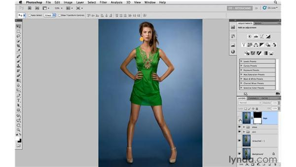 Increasing the height of the subject: Photoshop CS5: Portrait Retouching