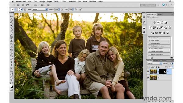 Combining multiple exposures for group portraits: Photoshop CS5: Portrait Retouching