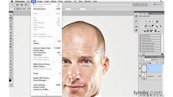 Reshaping with the Warp tool: Photoshop CS5: Portrait Retouching