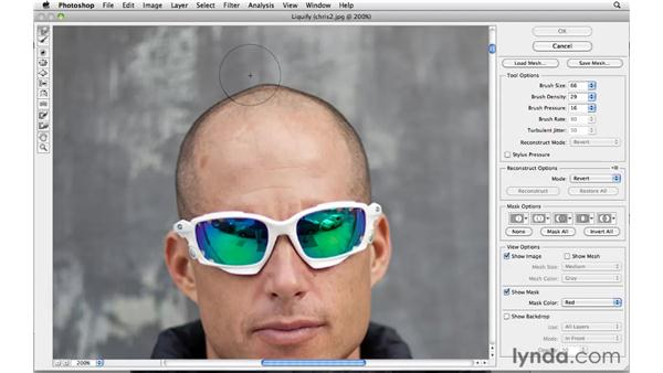 Reshaping with Liquify: Photoshop CS5: Portrait Retouching