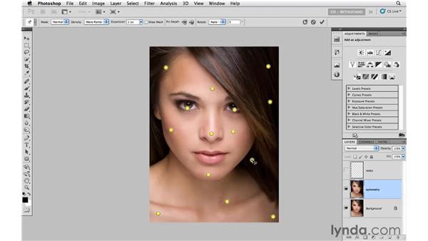 Creating simple symmetry in the face: Photoshop CS5: Portrait Retouching