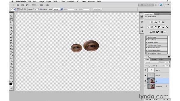 Removing distortion in a portrait: Photoshop CS5: Portrait Retouching