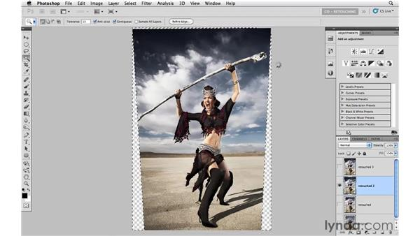Changing perspective on a fashion photograph: Photoshop CS5: Portrait Retouching