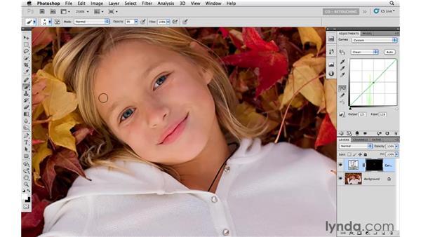 Brightening the shadows: Photoshop CS5: Portrait Retouching