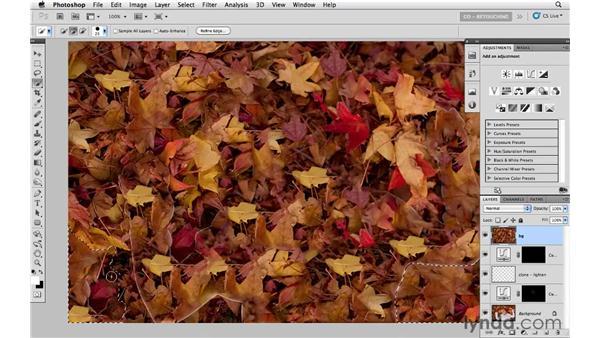 Modifying the background: Photoshop CS5: Portrait Retouching