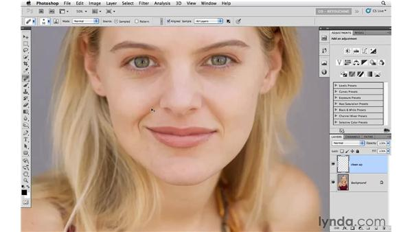 Cleaning up the small details: Photoshop CS5: Portrait Retouching