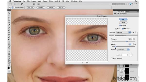 Sharpening the eyes: Photoshop CS5: Portrait Retouching