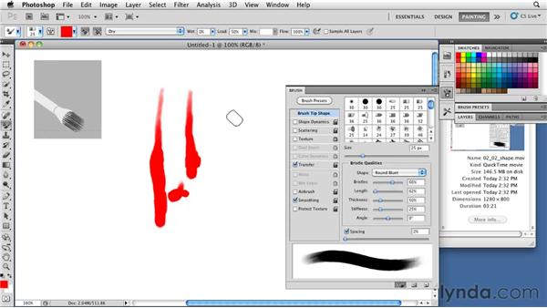 Choosing the right brush shape: Photoshop CS5: Painting with the Mixer Brush